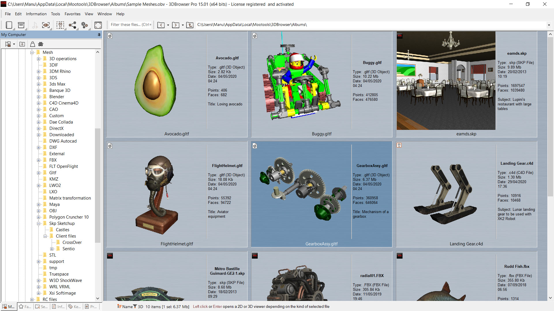 3DBrowser For 3D Users Overview: manage, display, convert and